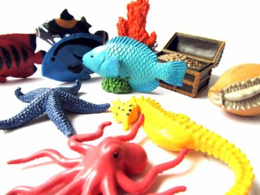 10X Coral Reef Fish Set Figurines Toy Miniblings Animal Figure Figures Figuriness Ocean Animals – Bild 2