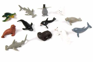 10X Marine Set Animals Mammal Whale Animal Figure Figures Figuriness Miniblings Rubber Toys Hai – Bild 1