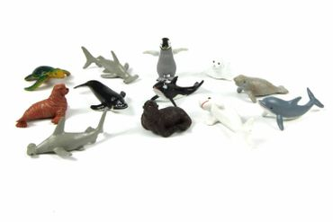 10X Marine Set Animals Mammal Whale Animal Figure Figures Figuriness Miniblings Rubber Toys Hai – Bild 3