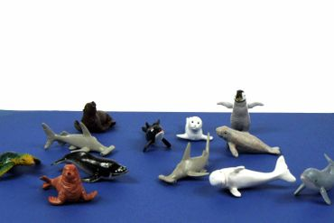10X Marine Set Animals Mammal Whale Animal Figure Figures Figuriness Miniblings Rubber Toys Hai – Bild 2