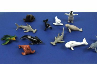 10X Marine Set Animals Mammal Whale Animal Figure Figures Figuriness Miniblings Rubber Toys Hai – Bild 4