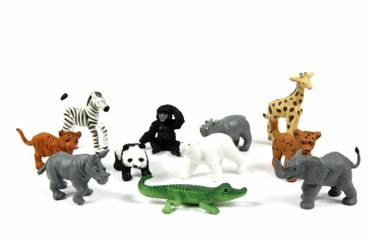 11X Zoo Wildlife Wild Animal Babies Children Figure Figures Figuriness Miniblings Figurines Toy  – Bild 1