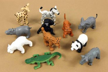 11X Zoo Wildlife Wild Animal Babies Children Figure Figures Figuriness Miniblings Figurines Toy – Bild 2