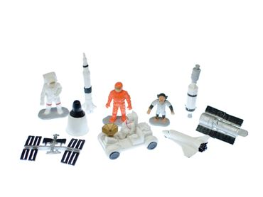 10X Space Set Spaceman Moon Universe Figure Figures Figuriness Toy Figurines Miniblings – Bild 2