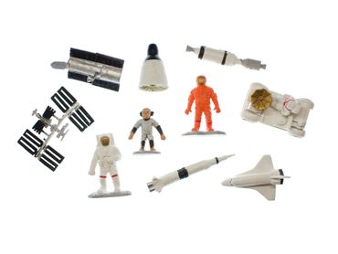 10X Space Set Spaceman Moon Universe Figure Figures Figuriness Toy Figurines Miniblings – Bild 3