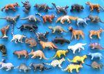34x Wildtiere wilde Tiere Tierfiguren Aufstellfiguren Miniblings kleine Räuber
