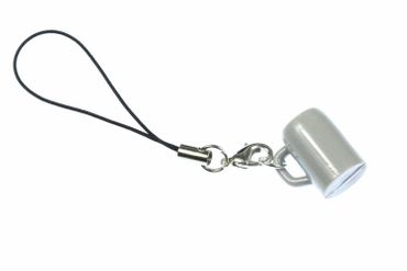 Beer Mug Glass Tankard Miniblings Mobile Phone Charm Pendant Oktoberfest Munich Gray – Bild 1