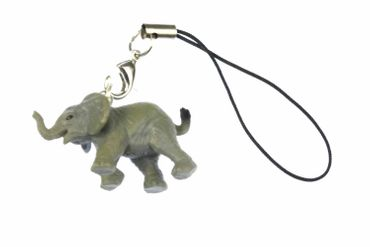 Elephant Mobile Phone Charm Pendant Miniblings Big 5 Animal Africa Gray Rubber 2cm Micro – Bild 1