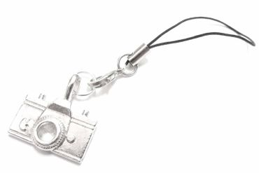 Camera Mobile Phone Charm Pendant Miniblings Photo Photographer Hobby Picture Silver – Bild 2