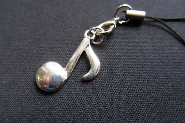 Notes Mobile Phone Charm Pendant Miniblings Eighth Note Orchestra Instrument Silver – Bild 2
