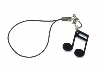 Notes Mobile Phone Charm Pendant Miniblings Semiquaver Sixteenth Note Music Orchestra 16Th Black – Bild 1