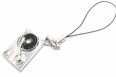 Turntable Mobile Phone Charm Pendant Miniblings Record Player Turntables Dj Band Miniature – Bild 1