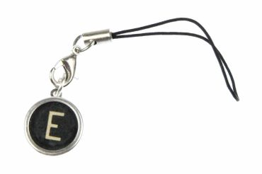 Typewriter Keys Key Letter Mobile Phone Charm Pendant Miniblings Request Letter Customized Initial Black – Bild 1