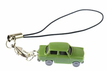 Trabi Trabant GDR East Germany Car Cult Retro Vintage Mobile Phone Charm Pendant Miniblings Model 1 160 Miniature Car Green – Bild 1