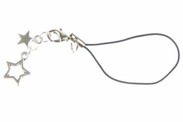Sternchen Handyanhänger Anhänger Stern Sterne Weihnachten Miniblings silber – Bild 1