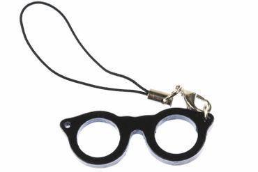Brillen Handyanhänger Anhänger Miniblings Brille Nerd Hipster Woody schwarz