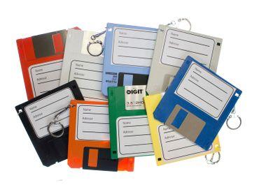 Adressanhänger Taschenanhänger Kofferanhänger Diskette RETRO Disc Floppy BLAU – Bild 3