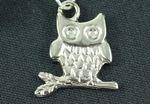 Eule Kette Halskette Miniblings 45cm Eulenkette Eulen Vogel Bird Uhu versilbert