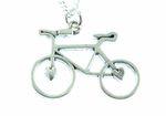 Fahrrad Kette Halskette Miniblings 45cm Rad Rennrad Fahrradkette versilbert Herz 001