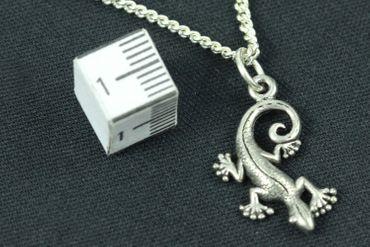 Gecko Salamander Necklace Miniblings 45cm Lizard Silver – Bild 3