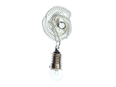 Light Bulb Necklace Miniblings 45cm Lamp Bulb Upcycling Silver Mini – Bild 4