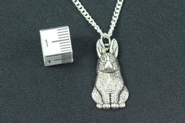 Rabbit Necklace Miniblings Silvered 45cm Bunny Rabbit Hare Rabbit Necklace Easter Bunny – Bild 3