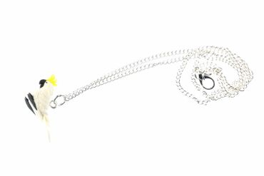 Cockatoo Necklace Miniblings 45cm Bird Parrot Parakeet Animal Pet Exotic White – Bild 2