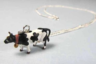 Cow Necklace Miniblings 45cm Cows Farm Animal Cow Calf – Bild 6