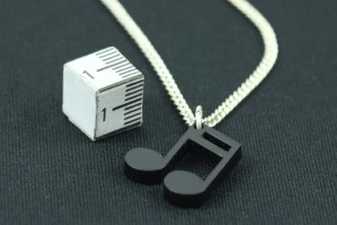 Notes Necklace Miniblings 45cm Music Notes Semiquaver Sixteenth Music Acrylic – Bild 2