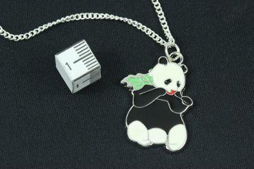Panda Bear Enamel Necklace Miniblings 45cm  Childrens Necklace Bamboo – Bild 2
