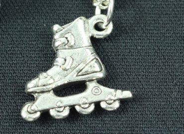 Rollerblades Rollerskates Kette Miniblings 45cm Inlineskates Rollschuhe silber – Bild 1