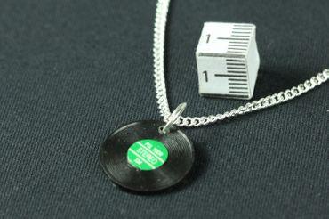 Record Necklace Miniblings 45cm Dj Band Music Lp Vinyl Record Musicians Green – Bild 2