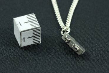 Printing Block Letters Typewriter Keys Necklace Request Letter Customized Initial Miniblings 45cm Upcycling – Bild 3