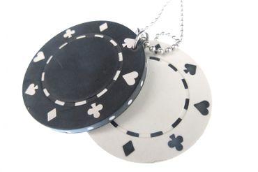 Set Of 2 Poker Chips Necklace Miniblings 80cm Las Vegas Casino Chip Game Gamble – Bild 1