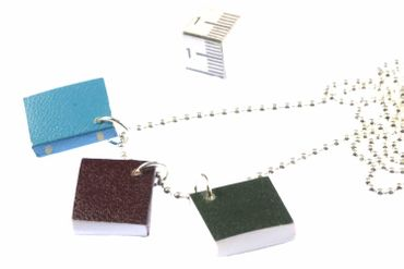 3 Books Necklace Miniblings 80cm Book Bookworm With Pages Writing Reading Author – Bild 1