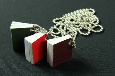 3 Books Necklace Miniblings 80cm Book Bookworm With Pages Writing Reading Author – Bild 5