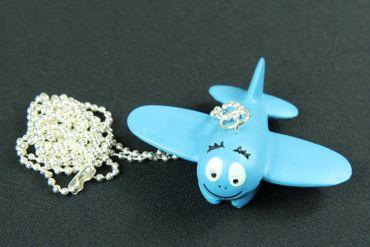 Barbapapa Airplane Necklace Miniblings 80cm Aviator Blue Children Toy Plane – Bild 2