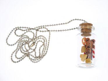 Bonbonglas Weihnachten Plätzchen Kette Halskette Miniblings Cookie Glas Keks – Bild 3