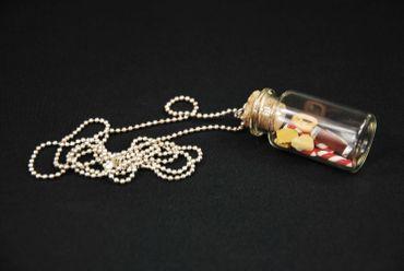Bonbonglas Weihnachten Plätzchen Kette Halskette Miniblings Cookie Glas Keks – Bild 2