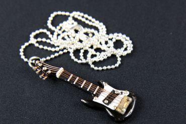 E-Gitarre Kette Halskette Miniblings 80cm Gitarrist Musik Musiker mit Box schwz – Bild 4