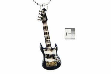 E-Gitarre Kette Halskette Miniblings 80cm Gitarrist Musik Musiker mit Box schwz – Bild 5