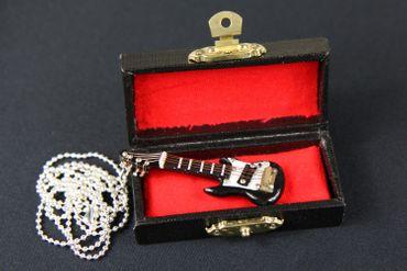 E-Gitarre Kette Halskette Miniblings 80cm Gitarrist Musik Musiker mit Box schwz – Bild 6
