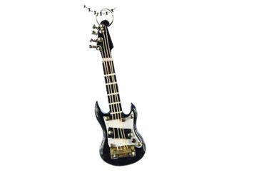 E-Gitarre Kette Halskette Miniblings 80cm Gitarrist Musik Musiker mit Box schwz – Bild 1