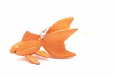 Fish Koi Necklace Miniblings Orange 80cm Goldfish Fish Necklace  – Bild 1