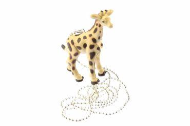Giraffe Kette Halskette Miniblings 80cm Zoo Giraffenkette Afrika Wildtier Gummi