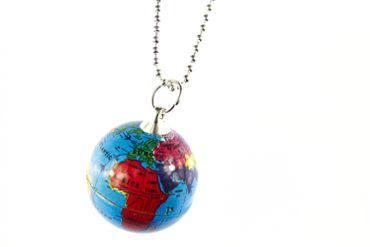 Globus Necklace Miniblings 80cm Earth Globe World Planet Blue – Bild 4