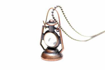 Lantern Necklace Miniblings 80cm Lamp Ship Lantern Light Illumination Lighting – Bild 2
