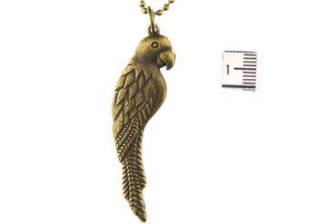 Papagei Ara Kette Halskette Miniblings 80cm Vogel Bird Parrot Vogelkette Bronze  – Bild 3