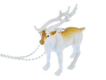 Rentier Kette Halskette Miniblings 80cm Weihnachten Hirsch Schweden Norwegen