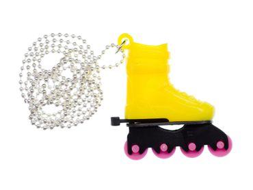 Rollerblades Rollschuhe Inlineskates Kette Halskette Miniblings Skates 80cm gelb
